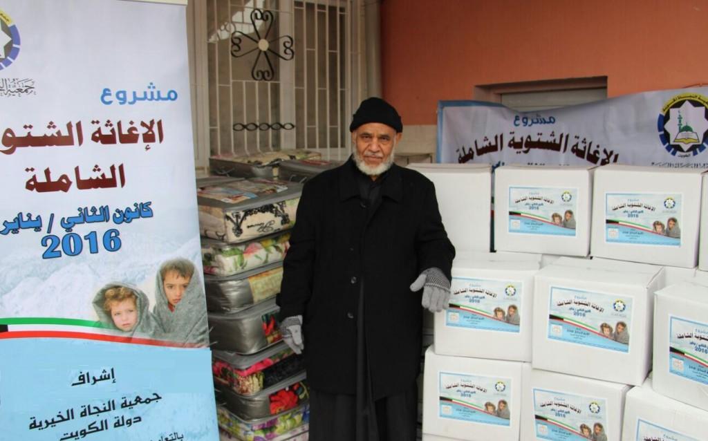 مساعدات النجاة للنازحين بالأردن