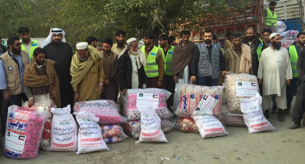 المساعدات الإغاثية لمتضرري زلزال باكستان