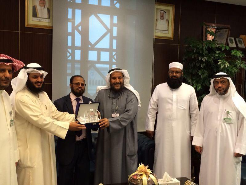 الجمعية الكويتية للإغاثة كرمت مدير عام بيت الزكاة الكويتي في كوسوفا