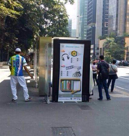 الدعوة الإلكترونية تشارك في حملة التعريف بالإسلام في محطات الوقود والباص بالبرازيل