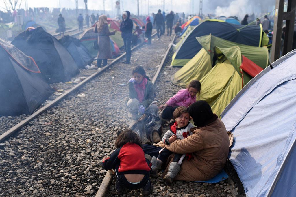 لاجؤون سوريون في اليونان