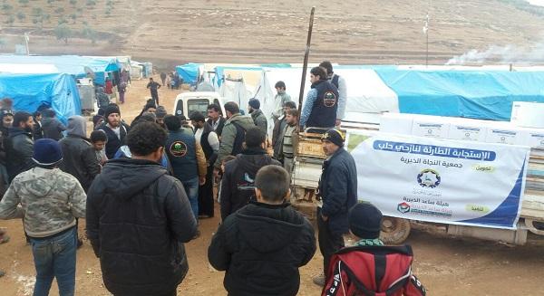 جمعية النجاة الخيرية تحقق السبق في تضميد جراح نازحي حلب