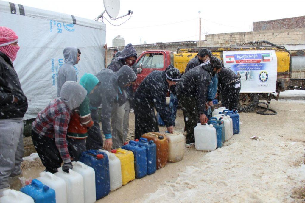 النجاة الخيرية : مساعدات للاجئين السوريين في عرسال شملت جميع المخيمات