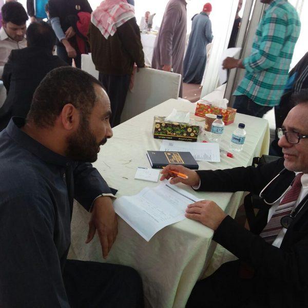 تزامنا مع احتفالات الكويت الوطنية .. الرحمة الطبية أهدت الجاليات الوافدة مخيما طبيا عالج 600 شخص