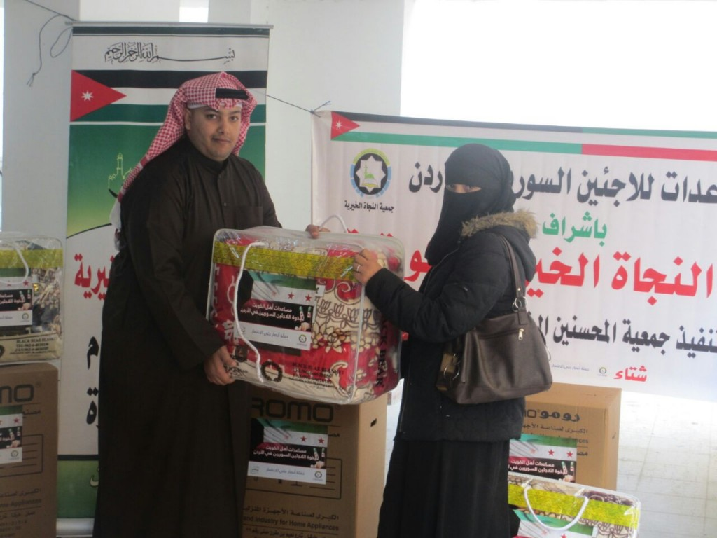 زكاة كيفان تواصل فعاليات حملة الخير لمساعدة النازحين السوريين بالأردن